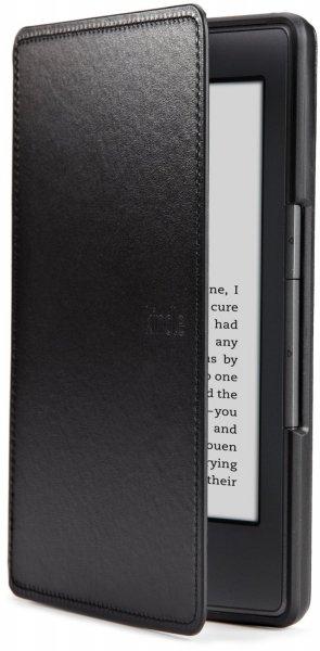 Amazon WHD Kindle Lederhülle, Schwarz [nur geeignet für Kindle (5. Generation)]