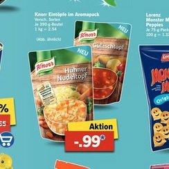 Knorr Gulaschtopf / Hühner Nudeltopf & andere Sorten ab 16.03. bei Lidl für 0,99 Euro