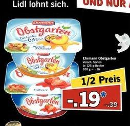 Ehrmann Obstgarten am 21.03. für 19 Cent bei Lidl