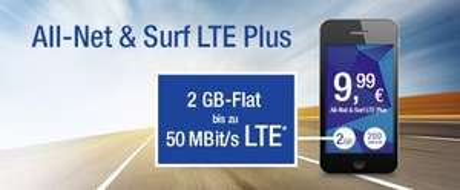 2GB LTE 50MBit/s 200 Minuten/SMS in alle Netze, E-plus Netz