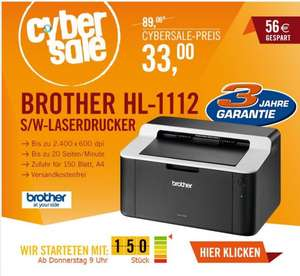 (CYBER SALE) Brother HL - 1112 S/W Laserdrucker