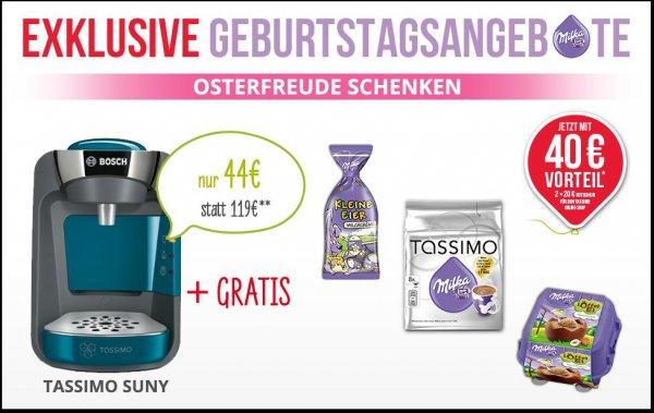 Tassimo für 44,00€ inkl. 2x 20€ Gutscheine und Milka Süßigkeiten - Endpreis 4,00€ für eine Tassimo