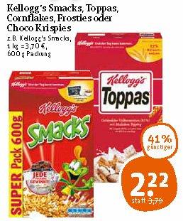 [Tegut bundesweit] Kelloggs Super Pack 600g / verschiedene Sorten / ab Freitag für 2,22 €