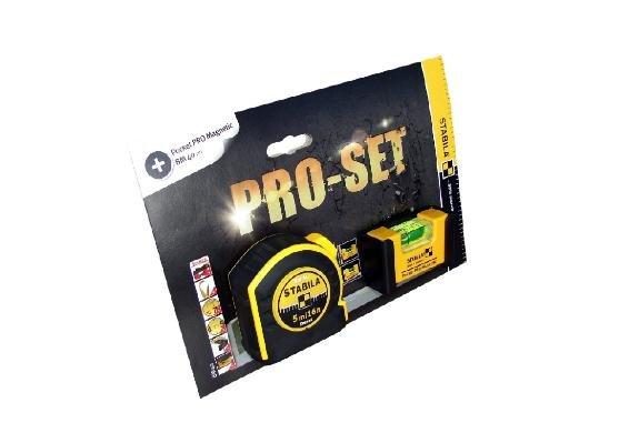 [3% Qipu] Stabila Pro-Set mit Maßband und Pocket Pro Magnetic Wasserwaage für 16,90€ frei Haus @DC