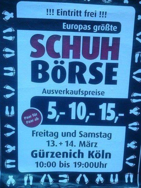 Schuh Börse Köln 13.3/14.3