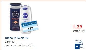 2 + 1 gratis Duschbad NIVEA Budni