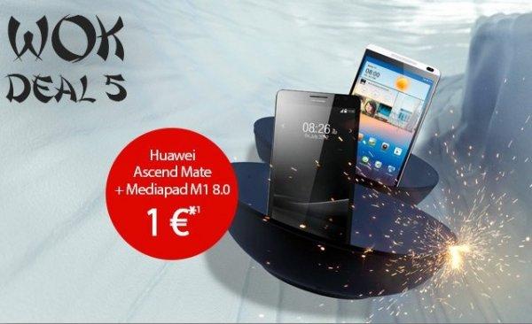 WOK-WM Deals bei handyflash: Vodafone 1GB LTE Internet-Flat ab nur 12,74€ im Monat + gratis Huawei Ascend Mate und Huawei MediaPad M1 8.0 16GB 3G