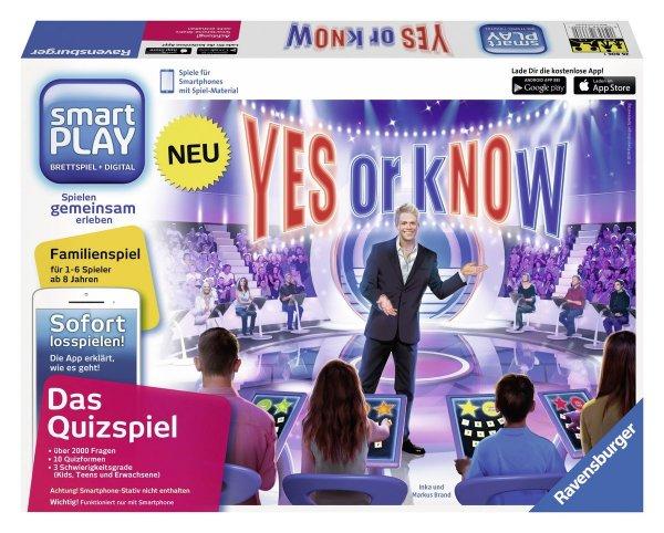 [Amazon Prime] Ravensburger 26806 - Smartplay - Yes or Know, ohne Smartphone-Stativ für 14,99€
