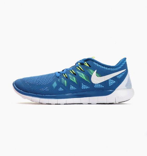 Nike Free 5.0 in Blau/Weiss