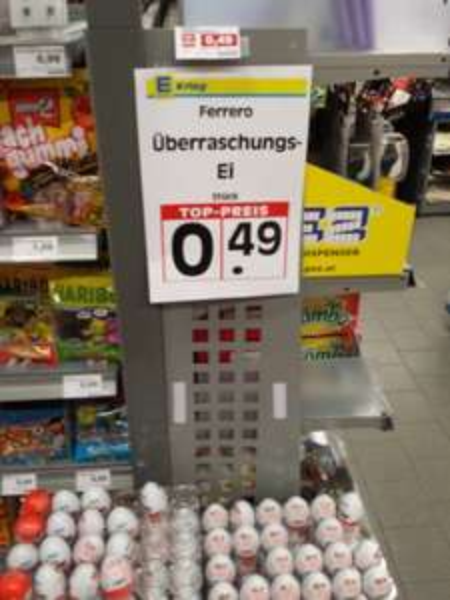 [Lokal Berlin] Ü-Ei für 49 Cent wie damals - statt 69 Cent Edeka