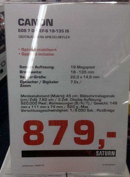 [Saturn][Braunschweig] Canon EOS 7D Kit 18-135 mm IS