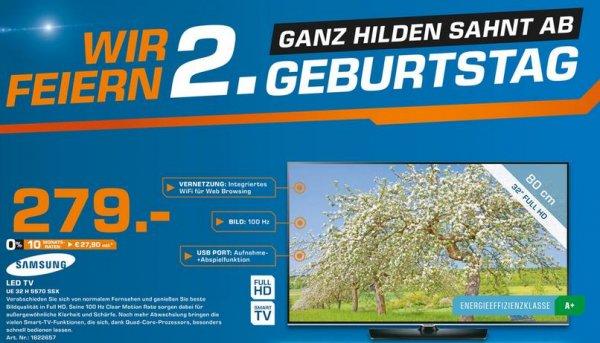 "[LOKAL SATURN HILDEN] Samsung UE32H5570 32"" LED TV (Full HD, Triple Tuner, WLAN, Smart TV)"