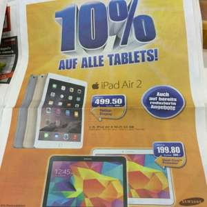 (SCHWEIZ) Apple iPad Air 2 64GB Wi-Fi 499.50