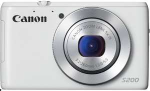 Amazon Blitzangebot, Canon PowerShot S200 Digitalkamera (10,1 Megapixel, 5-fach opt. Zoom, 7,5 cm (3 Zoll) LCD-Display, Full HD, GPS) weiß, 179€, Idealo 203€