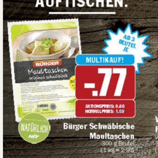 Bürger Maultaschen ab 0,77€