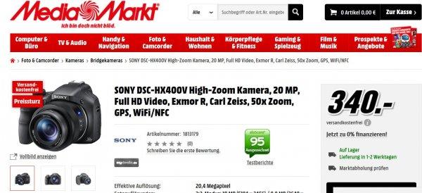 Sony DSC-HX400V Superzoomkamera Preissturz MediaMarkt