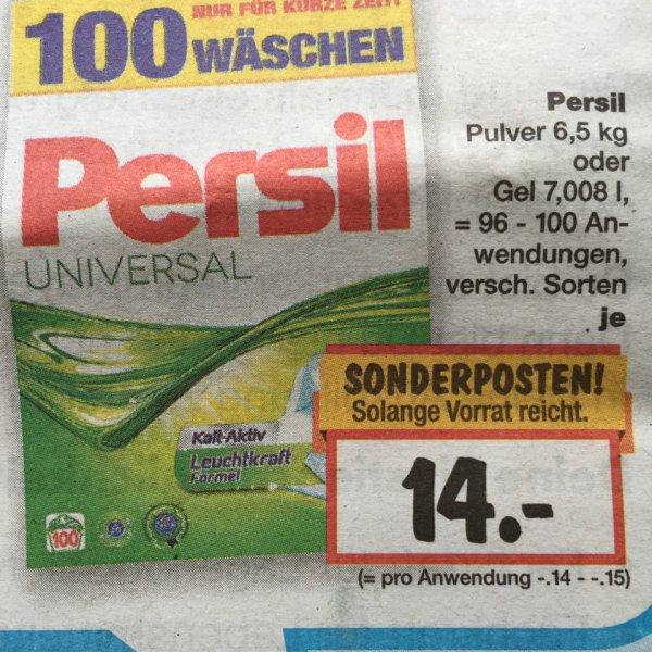 Kaufland (FFB/München) Persil 6,5 kg Pulver / Gel ca. 7 L für 14.-