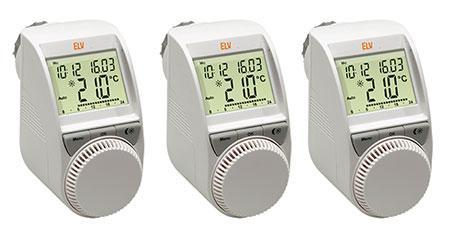 Elektronischer Heizungsregler / Thermostat ELV 3er Spar-SetETH comfort100 für 55,41€ oder  18,47€/st.