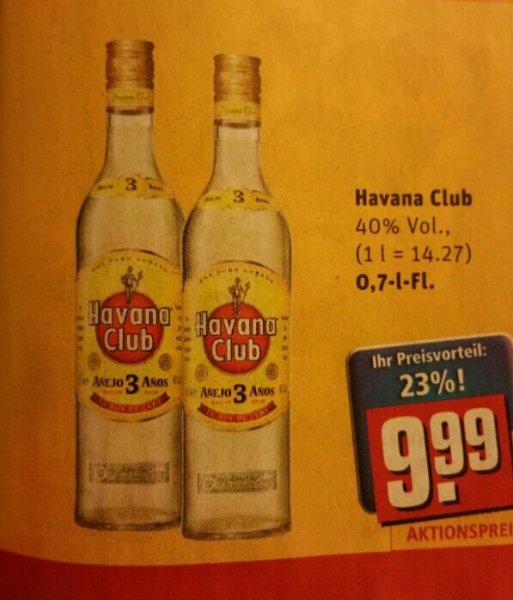 Bundesweit Rewe Havana Club 3 Anos 0,7L 9.99€