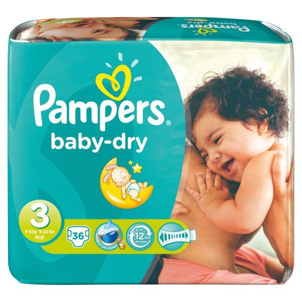 Rossmann Pampers BabyDry Jumbopack für 3,591€