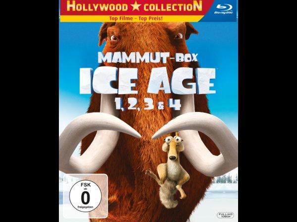 Ice Age 1-4 Mammutbox Bluray (vsk-frei) für 16,99
