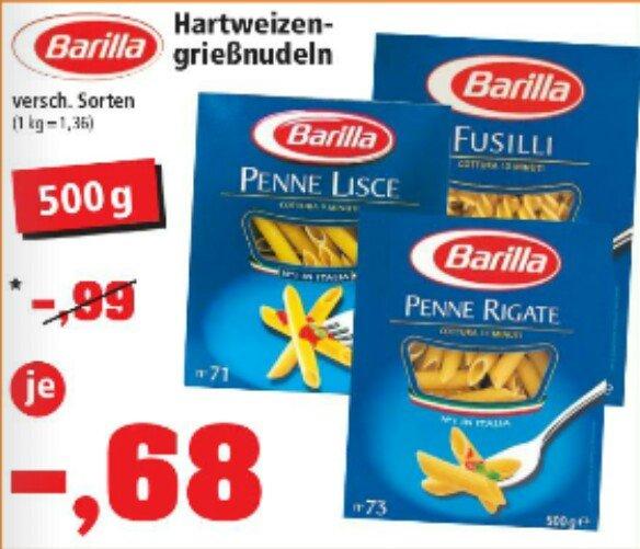 [Thomas Philipps] Barilla verschiedene Sorten 500g