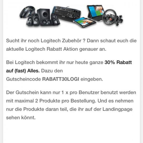 Logitech 30% Aktion