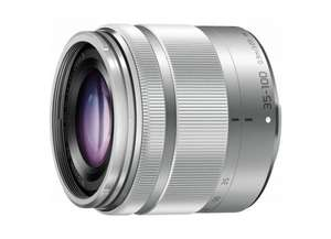 Panasonic Lumix G Vario 35-100mm F4,0-5,6 Asph. O.I.S. silber (Micro Four Thirds) für 253,65 € @Amazon.it