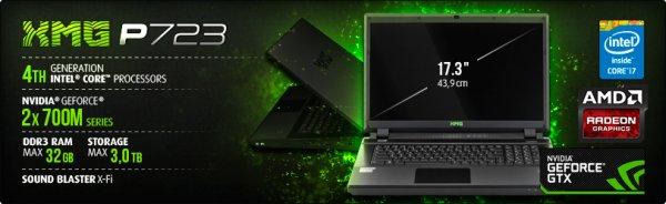 [B-Ware] Schenker XMG P723 PRO Gaming Notebook (i7/2x R9 M290X/8GB RAM)