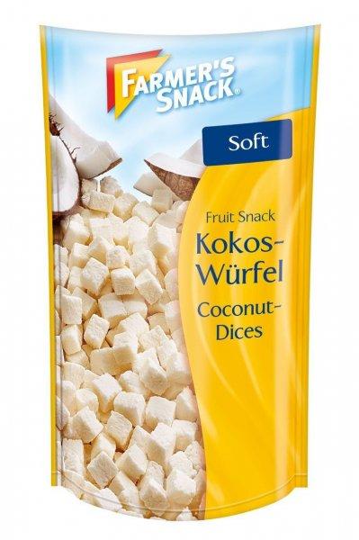 Amazon Prime: Farmer's Snack Kokoswürfel, 10er Pack (10 x 100 g) Nur 8,60 €