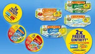 Milkana Käse auch 2015 wieder mit 2-für-1 Gutscheinen für Freizeitparks (u.a Lego Land , Heide-Park , Sea Life Aquarien uvm.) 1,99€ @ Lidl (Gültig bis  31. März 2016)
