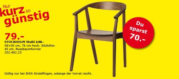 [LOKAL] STOCKHOLM Stuhl für 79€ statt 149€ bei IKEA Sindelfingen