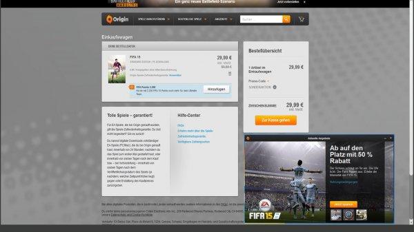 [PC] FIFA 15 über Origin Programm -Aktuelle Angebote- 50% Rabatt für 29,99€