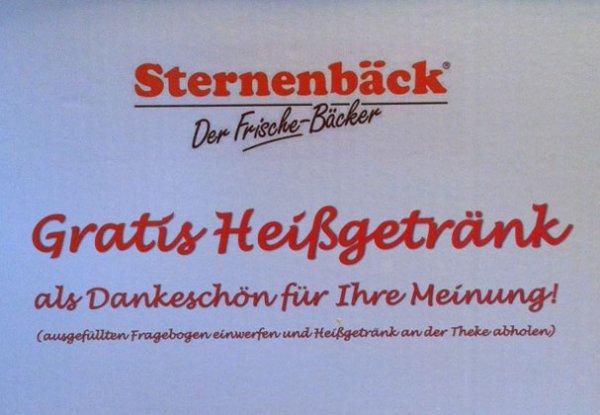 [Sternenbäck Weimar] Kostenloses Heißgetränk für anonyme Umfrage