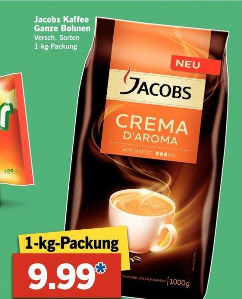 [LIDL] Jacobs Kaffeebohnen 1 kg mit Aroma-Wechsel-Prämie für 5,99 € (ab 19.03.15)