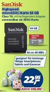 [Real]  64GB SanDisk Ultra microSDXC Class 10 Speicherkarte inkl. SD-Adapter ab 23.03