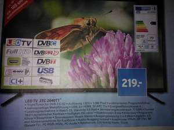 "[evtl Lokal] JTC 2040TT 40""-LED TV mit Triple Tuner bei Netto mit Hund ab dem 19.03.15, Donnerstag"