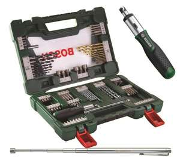 BOSCH V-Line TiN-Bohrer- und Bit-Set, 91-teilig mit Ratsche und Magnetstab für 24,50 € [ebay]