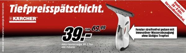 [Mediamarkt Tiefpreisspätschicht] Kärcher WV 2 Plus Fensterreiniger Gelb/Schwarz für 39,- VSK frei