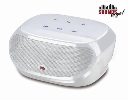 [Meinpaket] SOUNDS - to go! Portable Boombox - Bluetooth Lautsprecher weiß mit integrierter Freisprechfunktion für 14,99 EUR