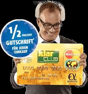 Gebührenfrei-Master-Card + 0,5% Cashback + 25 Eur Guthaben
