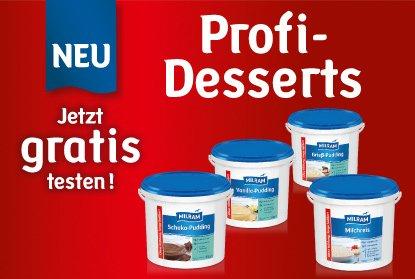 Gratis  Profi Desserts von Milram