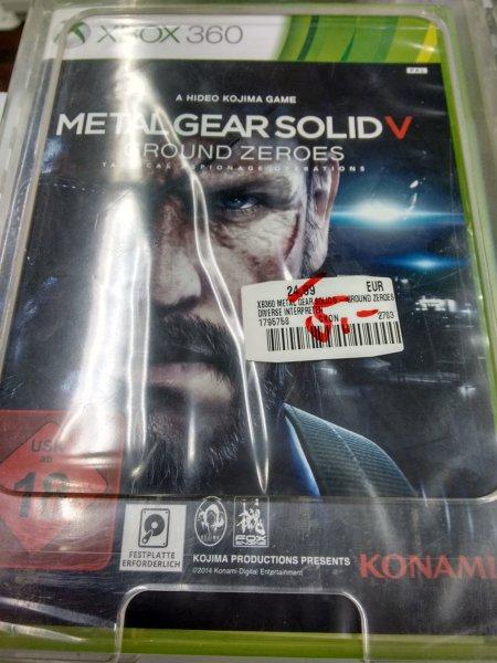 [Lokal Saturn Mannheim] Metal Gear Solid V: Ground Zeroes (Xbox 360) für nen Fünfer