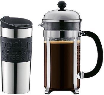 Bodum Kaffeebereiter Chambord Set für 8 Tassen + Travel Mug Becher (0,35L) für 29,99€