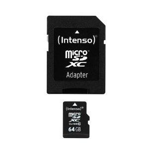 [Ebay] Intenso microSDXC 64GB (Class 10) inkl. Adapter für 22€ = 21% Ersparnis