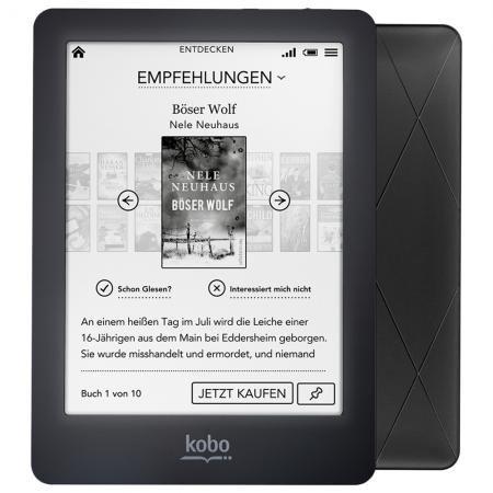 [Redcoon] Kobo Glo (beleuchteter Ebookreader) in schwarz inkl. Tasche für 84€ = 15% Ersparnis