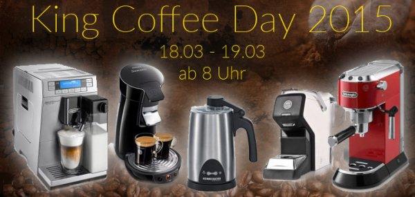 King Coffee Day mit zahlreichen Angeboten Thema Kaffee z.b. DeLonghi Lattisima+ EN 520.DB für 149,-Euro plus 200 Kapseln
