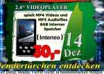 INTENSO VideoCruiser 8GB @ planet-elektronik 14.12. - 30EUR (Abholpreis in C und Z) (+6,90Versand)