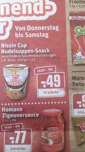 Nissin Cup Nudeln @ Rewe Duisburg event. Bundesweit