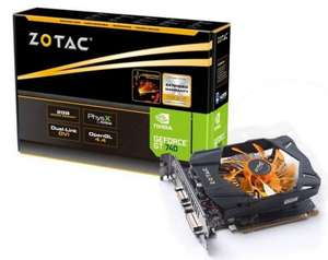 Zotac NVIDIA GeForce GT 740 2GB DDR5 @Notebooksbilliger.de 26 Euro unter idealo.de